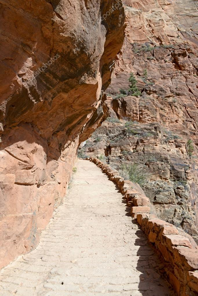 Trail up Angels Landing, Zion National Park, USA