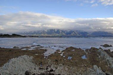 Rugged coastal landscape in Kaikoura, New Zealand