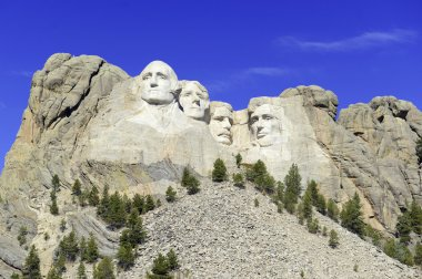 Mount Rushmore National Memorial, symbol of America located in the Black Hills, South Dakota, USA.