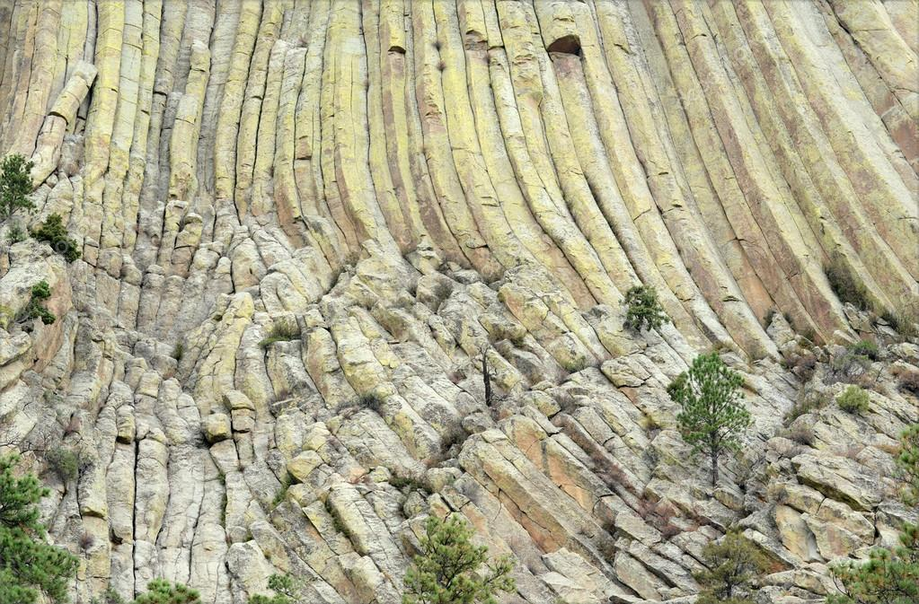 Closeup of Devils Tower, Wyoming