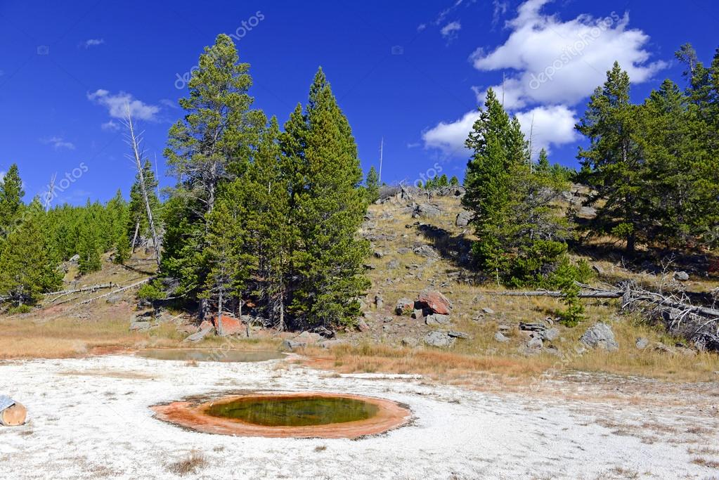 Geothermal features in Yellowstone National Park