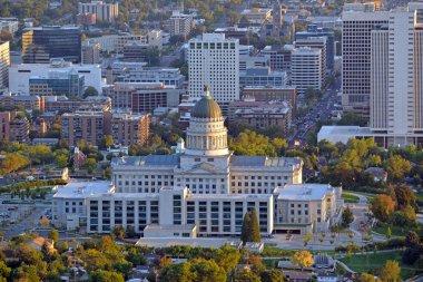 Salt Lake City skyline with Capitol building, Utah