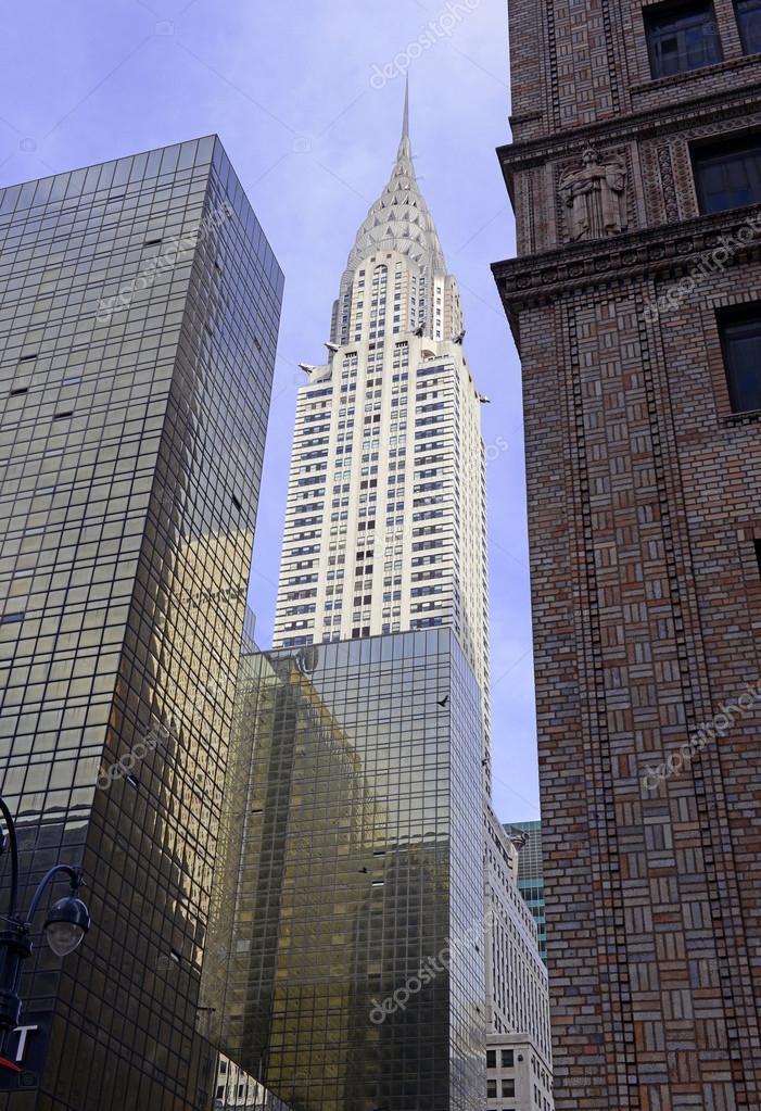 Belangrijke Gebouwen New York.De Chrysler Gebouw In Midtown Manhattan Redactionele Stockfoto