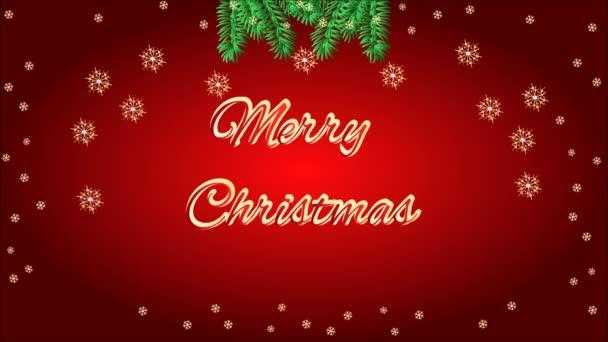 Vidám karácsony keret Luc- és erdei fenyő kúpok videóinak ága