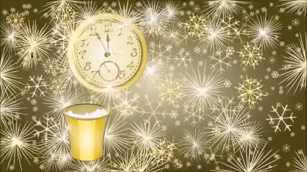 Boldog új évet háttér óra videó