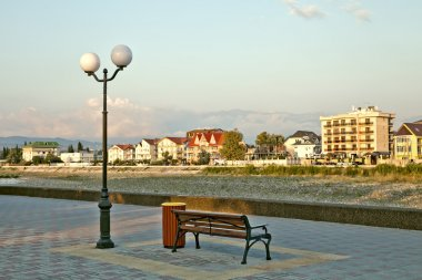 Russia. Sochi. Adler. The river Mzymta embankment