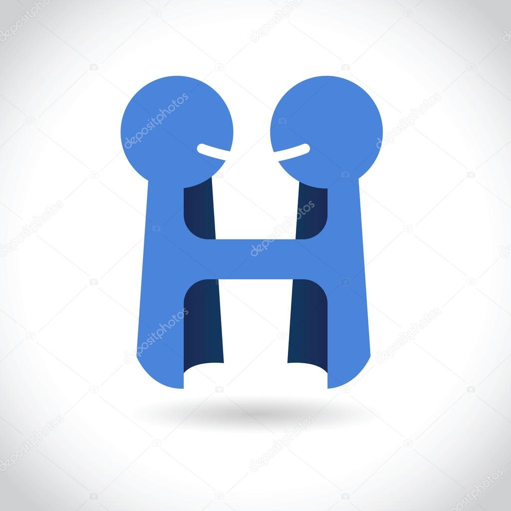 Logo plantilla negocio acuerdo Asociación — Archivo Imágenes ...