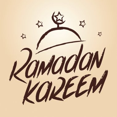 Ramadan Kareem Greeting Typography Art