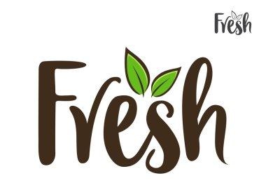 Fresh Word Handwriting Typography Art