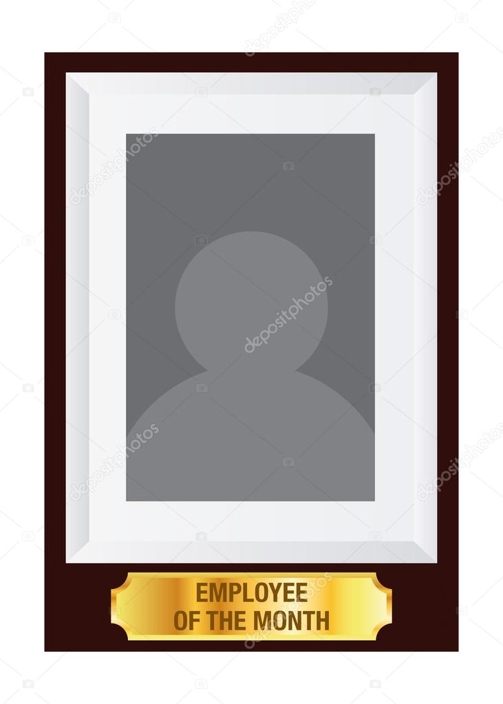 Mitarbeiter des Monats Foto Frame Vorlage — Stockvektor © yusak_p ...
