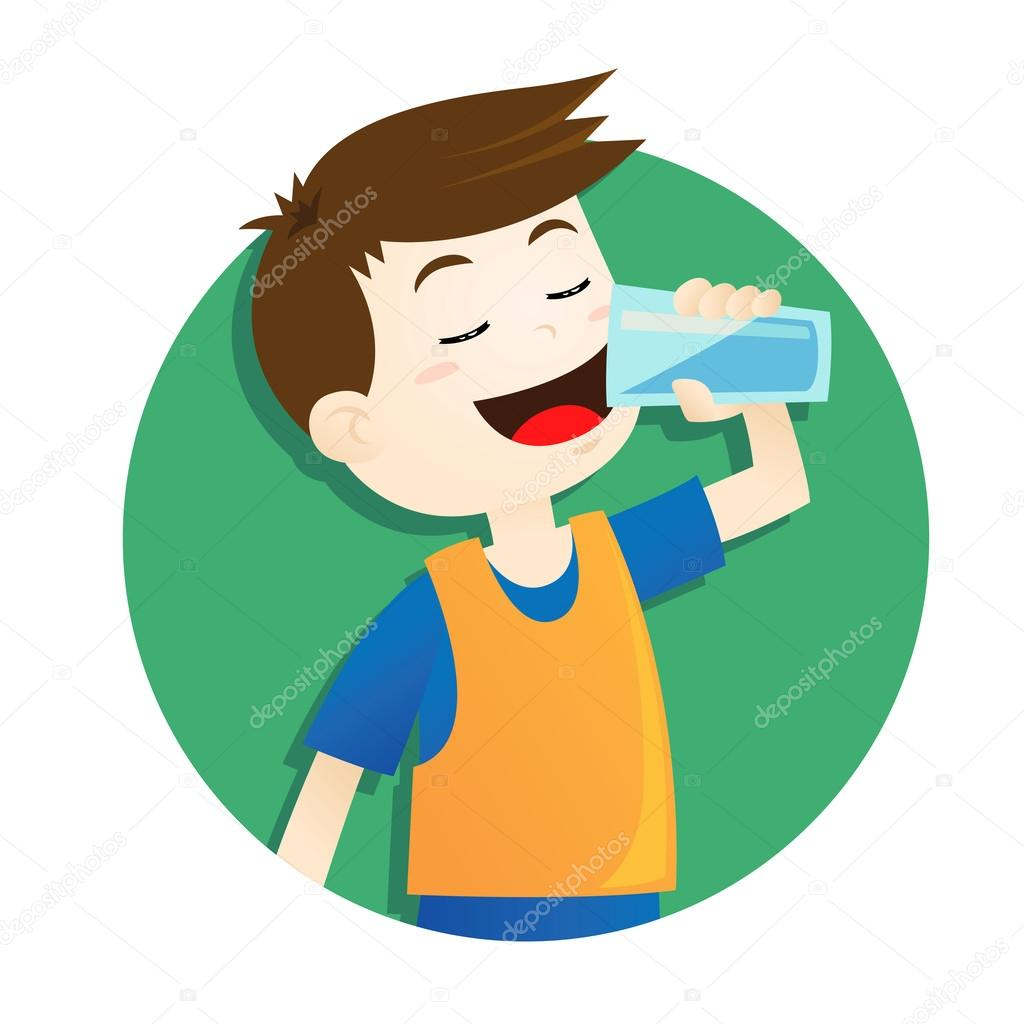 ᐈ Personas tomando agua animadas dibujos de stock, animado personas  bebiendo agua | descargar en Depositphotos®