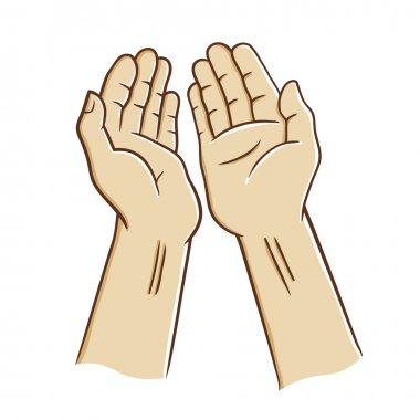 Open Hands Praying