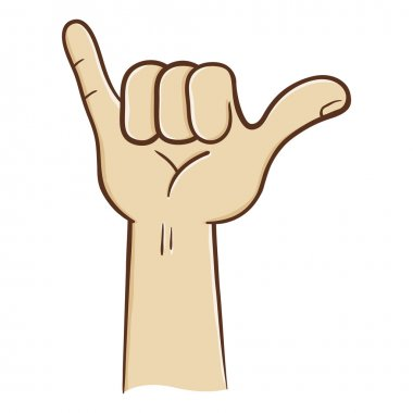 Hang Loose Hand Sign