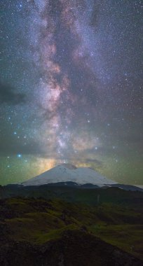 Milky Way over Elbrus