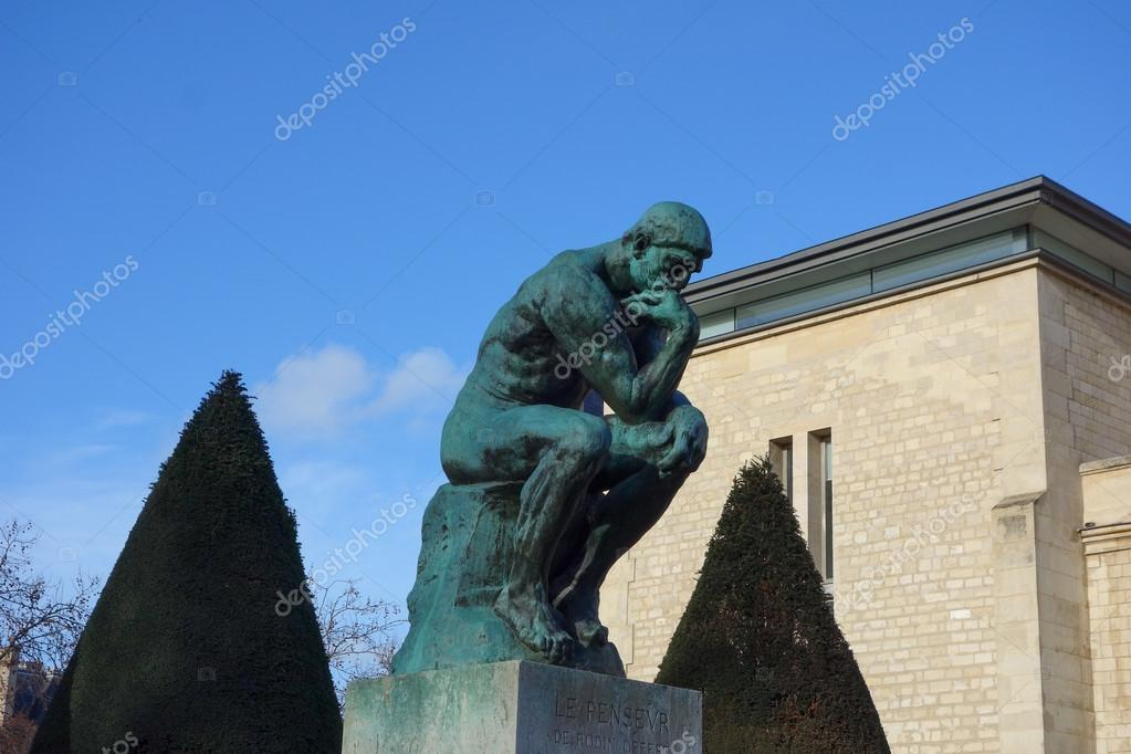 le penseur meaning the thinker sculpture by auguste rodin in p stock editorial photo. Black Bedroom Furniture Sets. Home Design Ideas