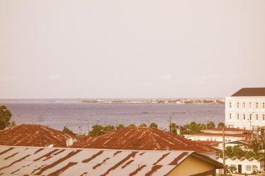 Retro looking Bata waterfront