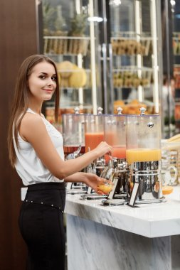 Tasty fresh juices for the lunch