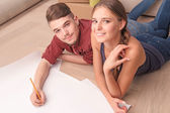 Fotografia Piano di disegno piacevole coppia