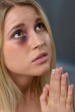 Depressed girl begging to help