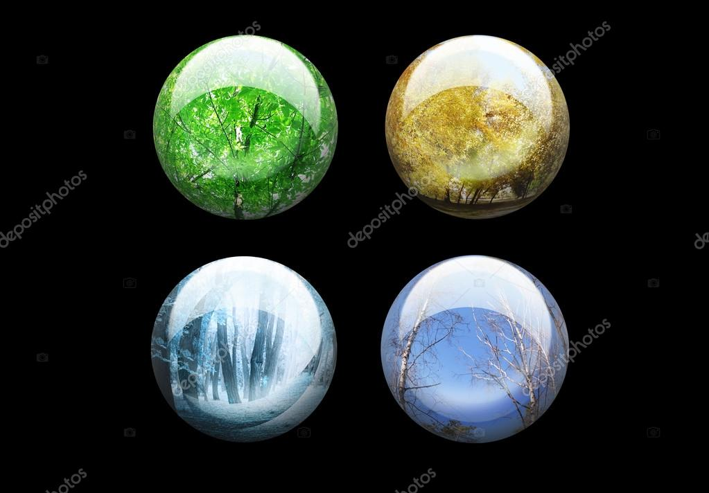 Four seasons glossy buttons