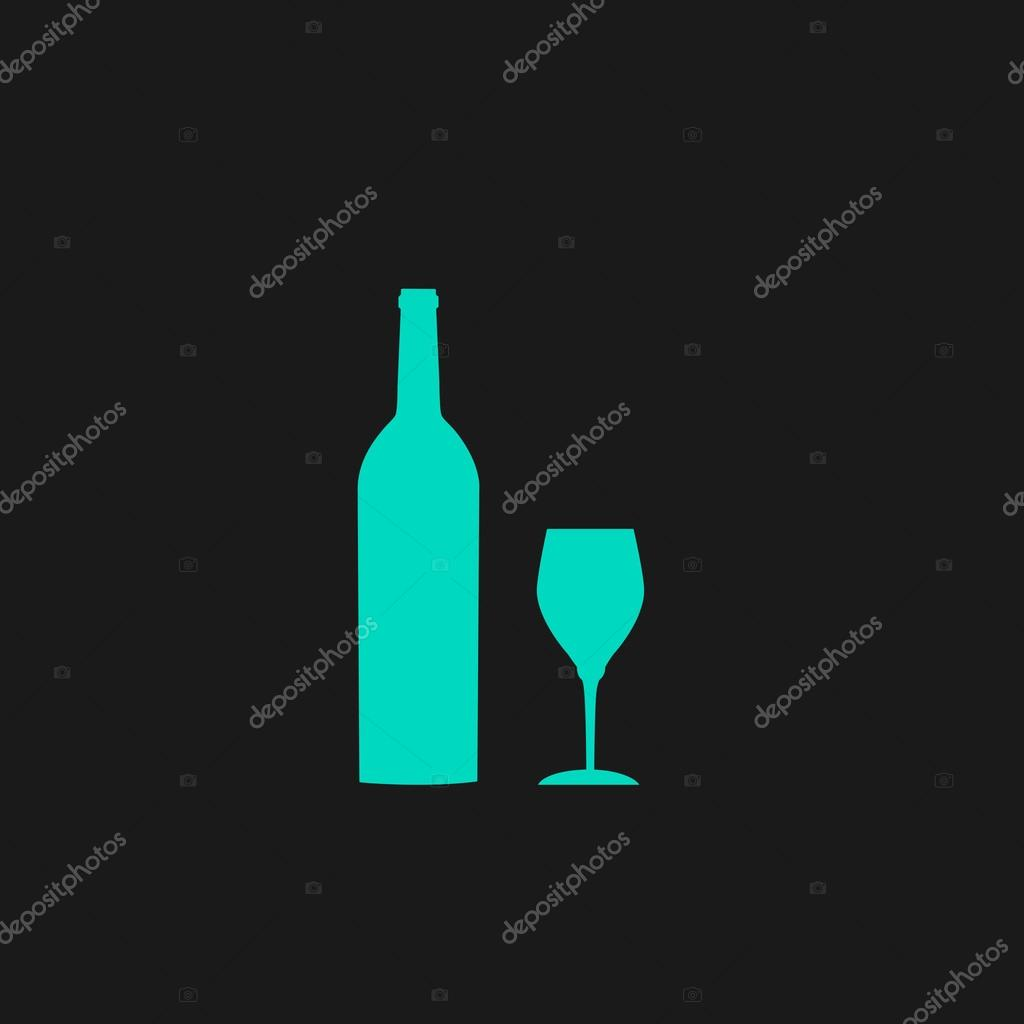 Bottle of wine and glass stock vector burntime555 103343608 bottle of wine and glass flat simple modern illustration pictogram collection concept symbol for infographic project and logo vector by burntime555 biocorpaavc Gallery