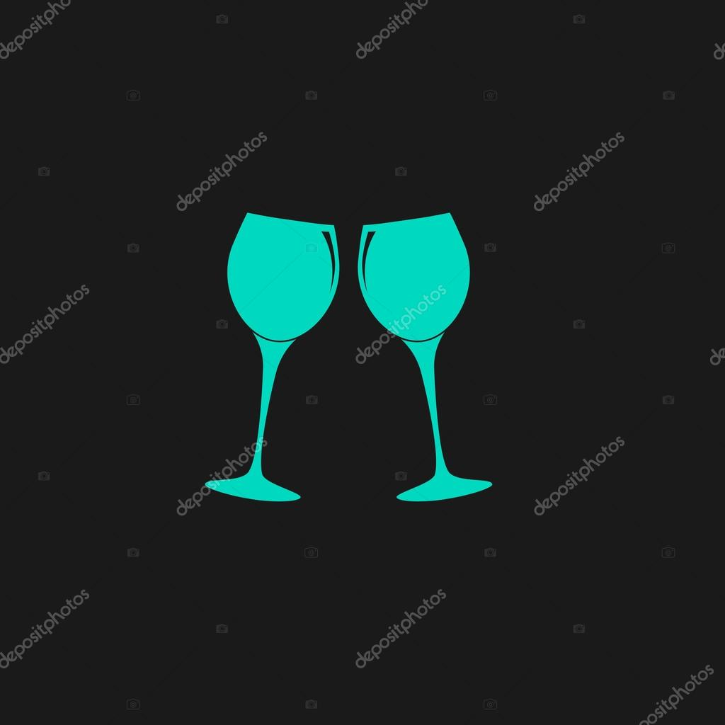 Two glasses of wine or champagne vector icon stock vector two glasses of wine or champagne flat simple modern illustration pictogram collection concept symbol for infographic project and logo vector by biocorpaavc Gallery