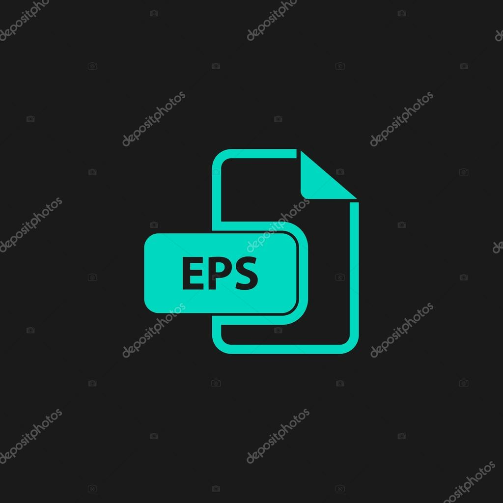 eps vector file extension icon stock vector burntime555 104343314