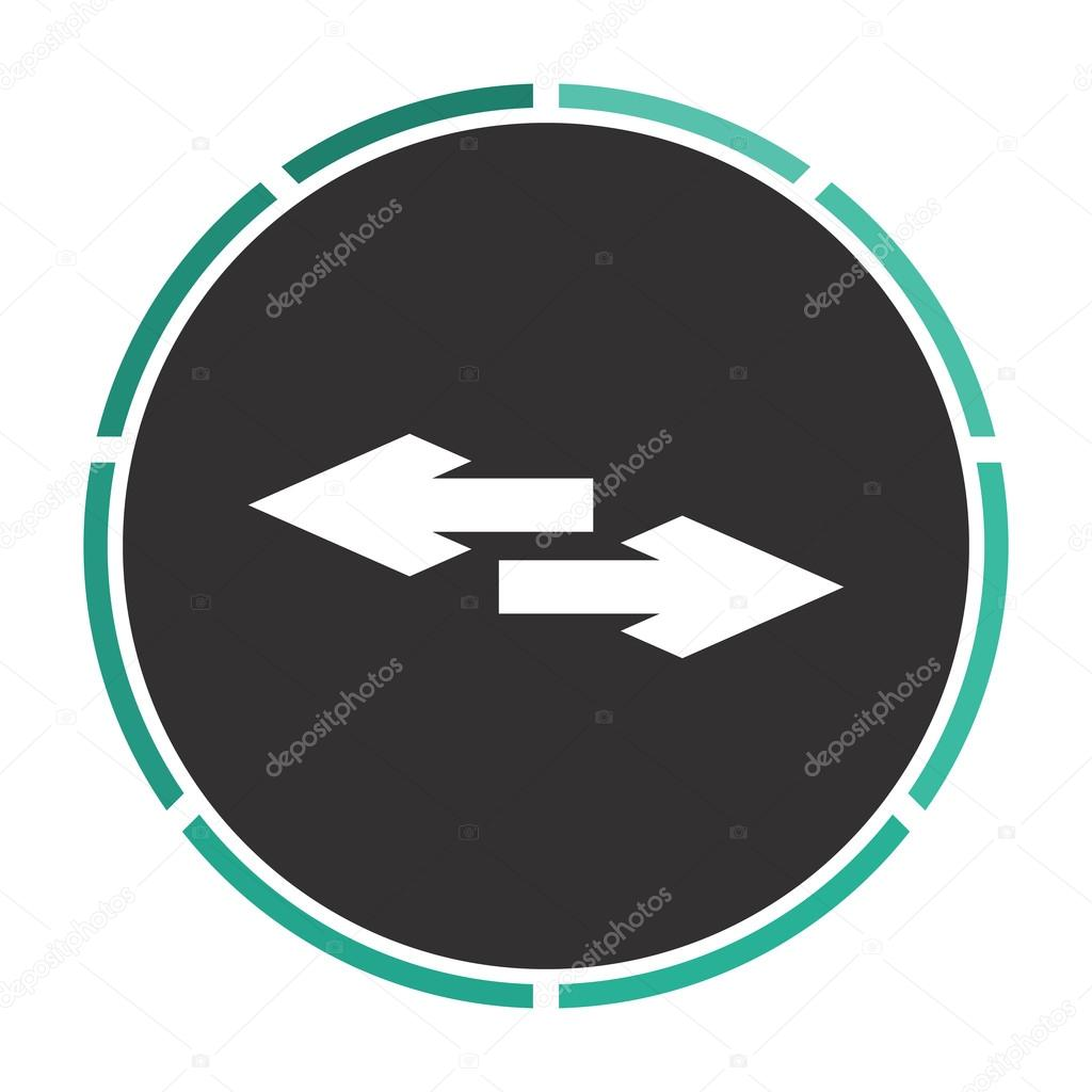 Side Arrow Computer Symbol Stock Vector Burntime555 109747544