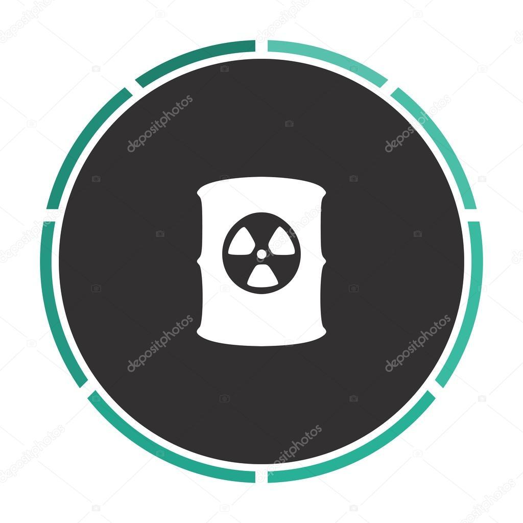 Radioactive Waste Computer Symbol Stock Vector Burntime555