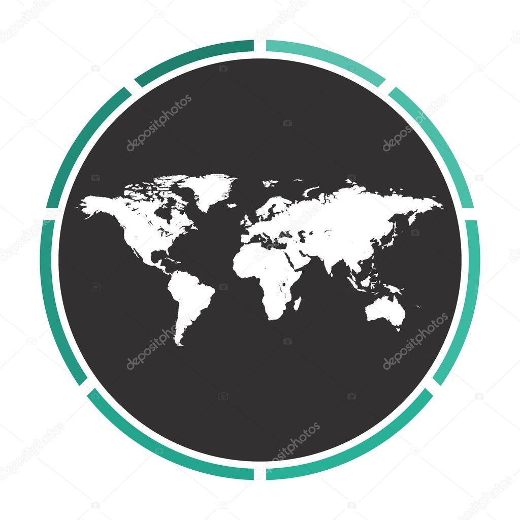 Welt Karte Computer symbol — Stockvektor © burntime555 #109758440
