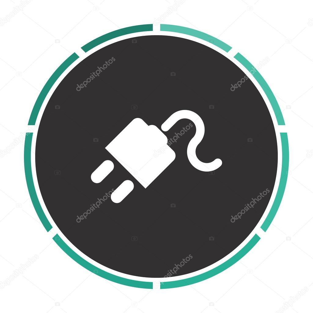 Energie Kabel Computer symbol — Stockvektor © burntime555 #109982398