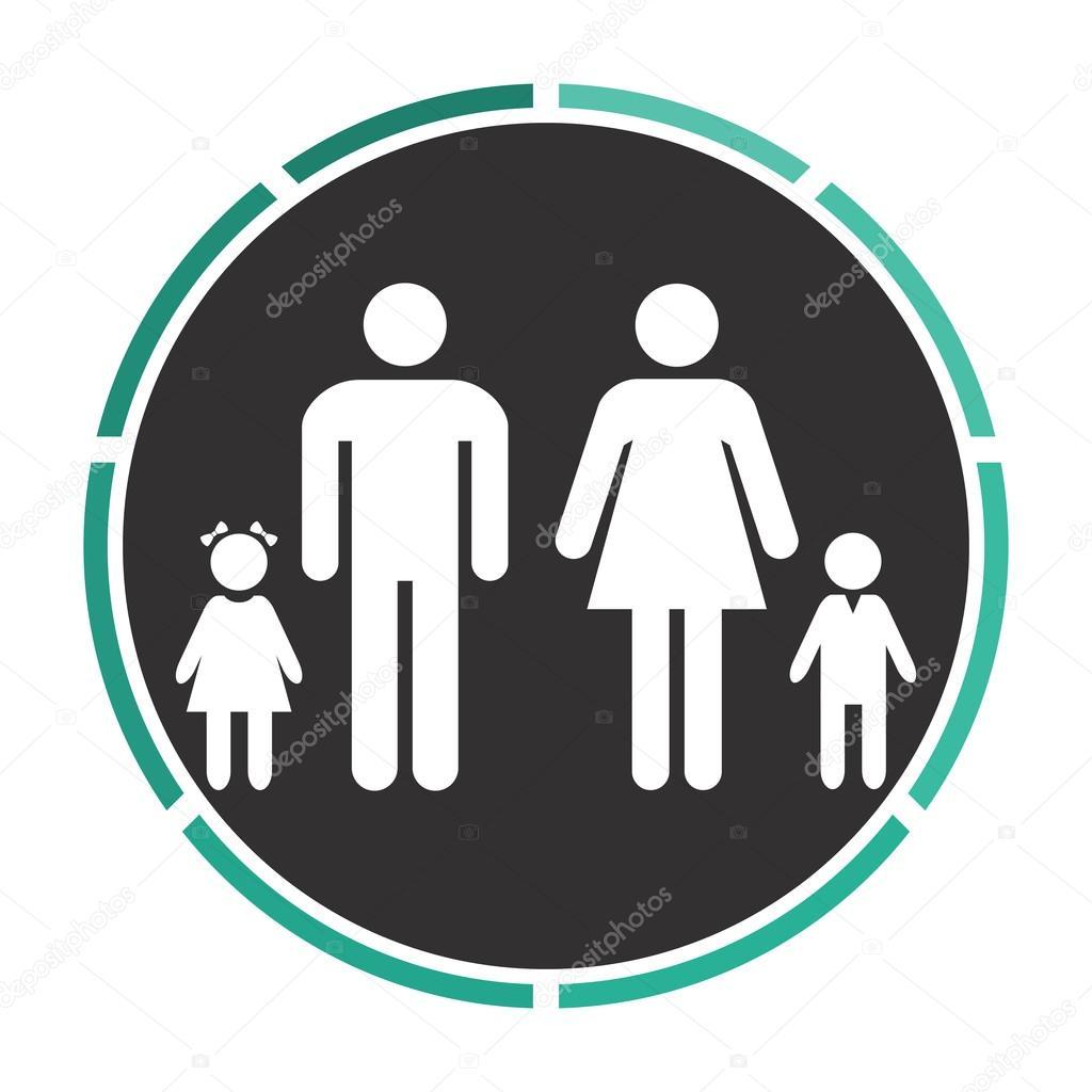 symbole de l ordinateur de la famille image vectorielle burntime555 109987298. Black Bedroom Furniture Sets. Home Design Ideas