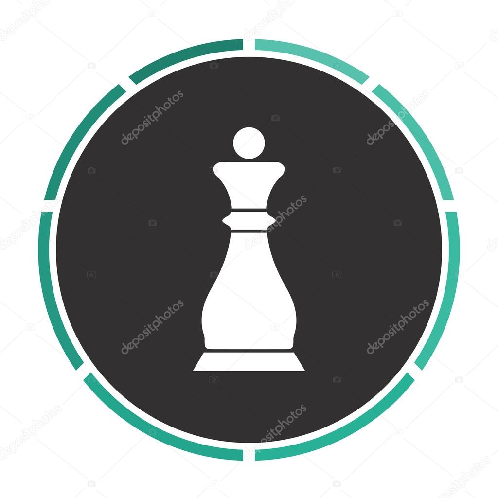 Chess queen computer symbol stock vector burntime555 109994012 chess queen simple flat white vector pictogram on black circle illustration icon vector by burntime555 biocorpaavc Gallery
