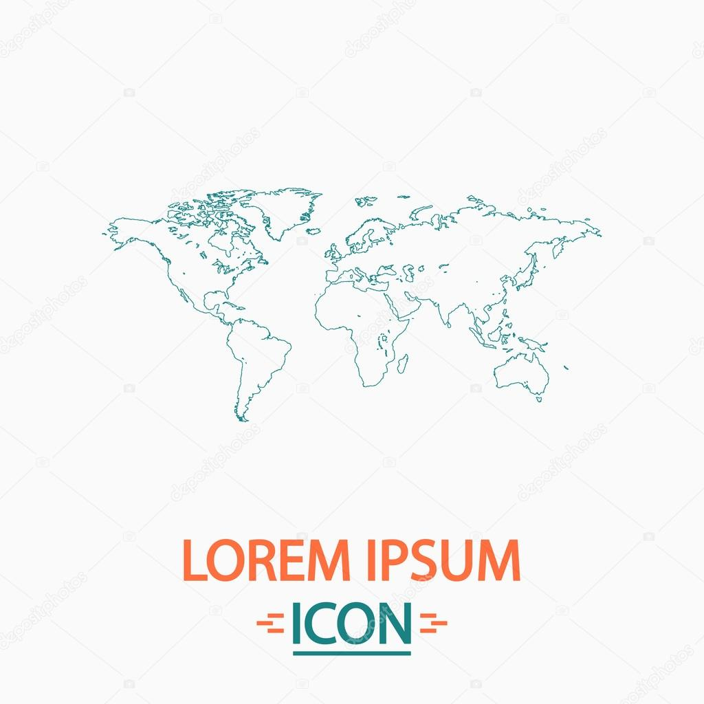 Welt Karte Computer symbol — Stockvektor © burntime555 #116277974