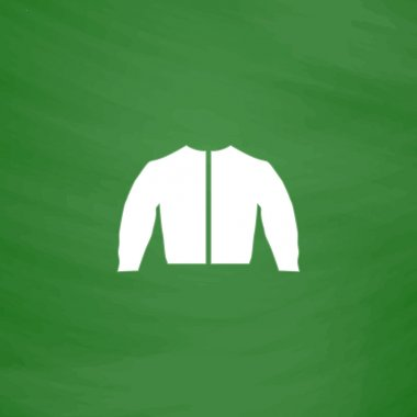 sports jacket flat icon