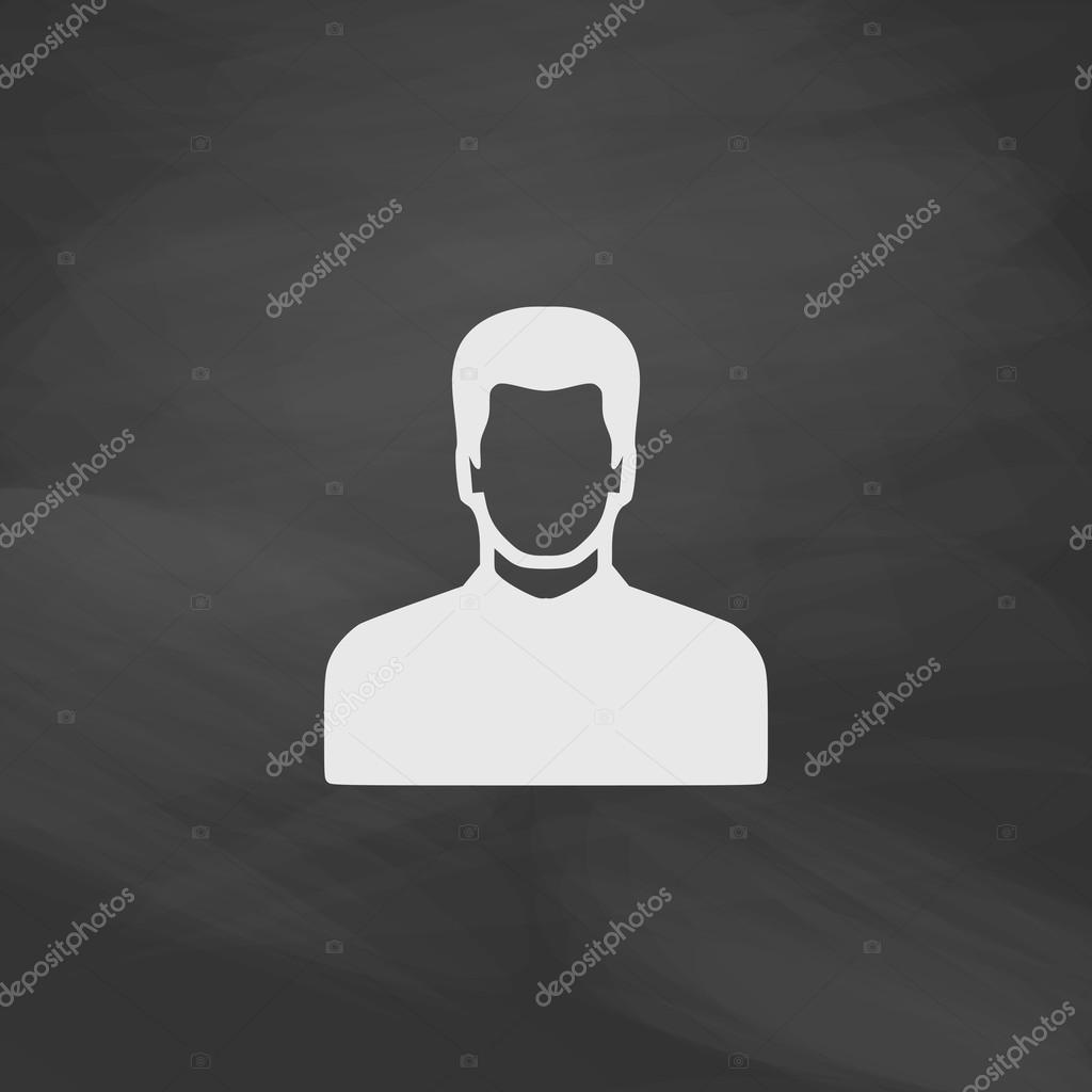 Male avatar computer symbol stock vector burntime555