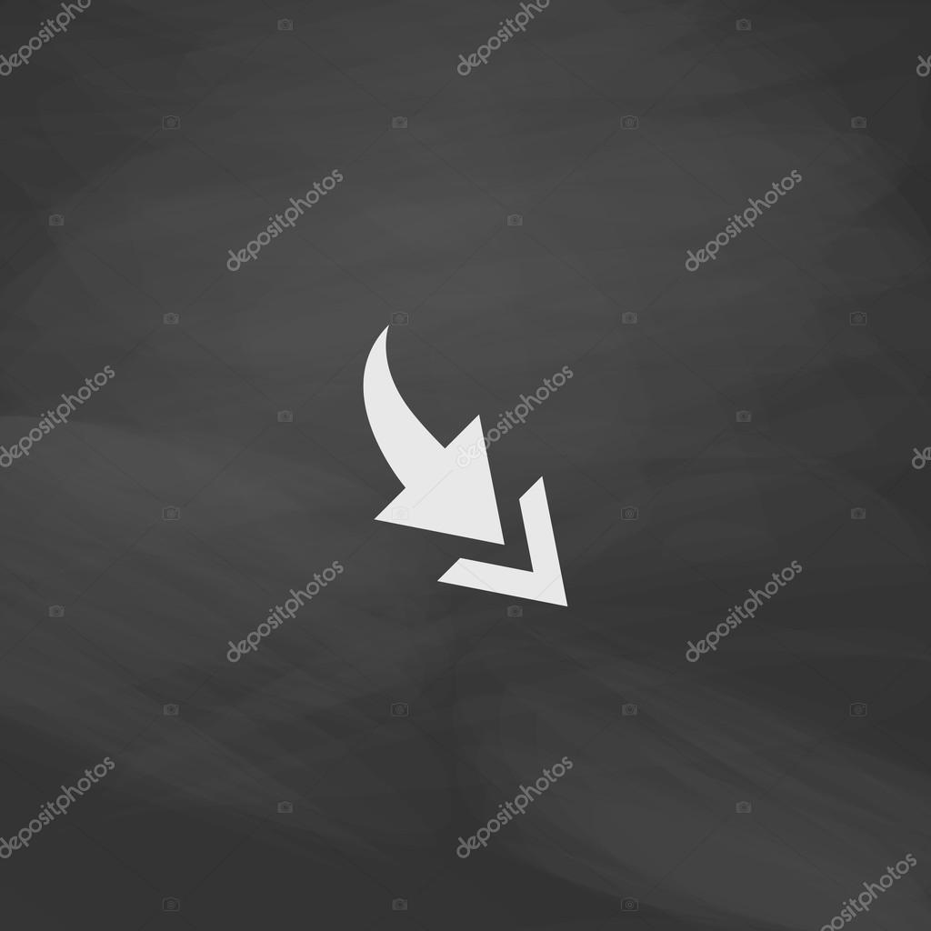 Arrow Computer Symbol Stock Vector Burntime555 122232876