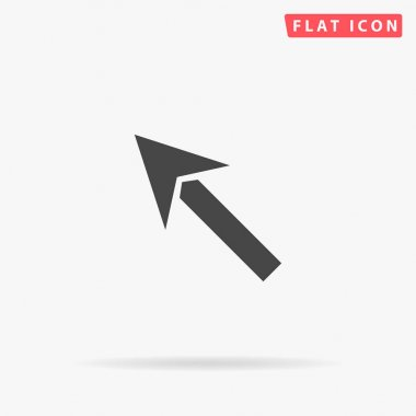 Up Left Arrow flat vector icon. Hand drawn style design illustrations. icon