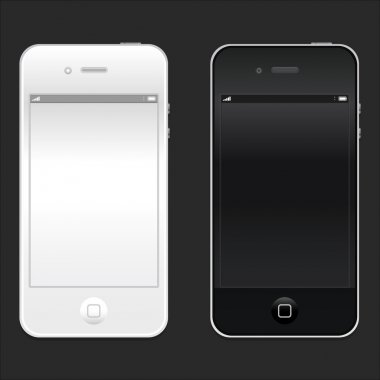 New realistic black and white mobile phone