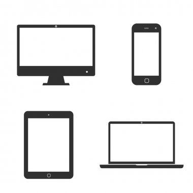 Set of icons electronic devices