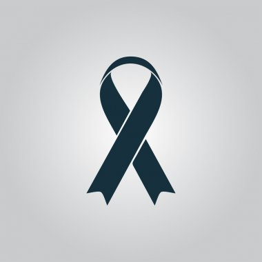 Flat ribbon aids symbol icon