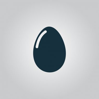 Vector egg icon. Eps10. Easy to edit