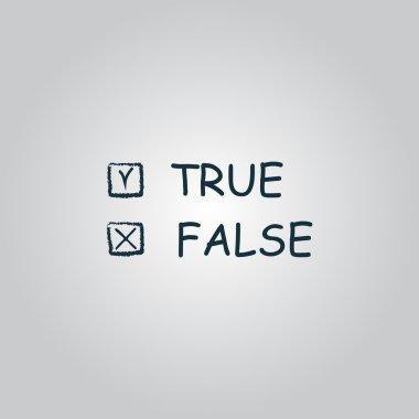True and False icon