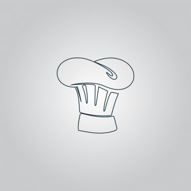 Chef Hat icon, sign and button