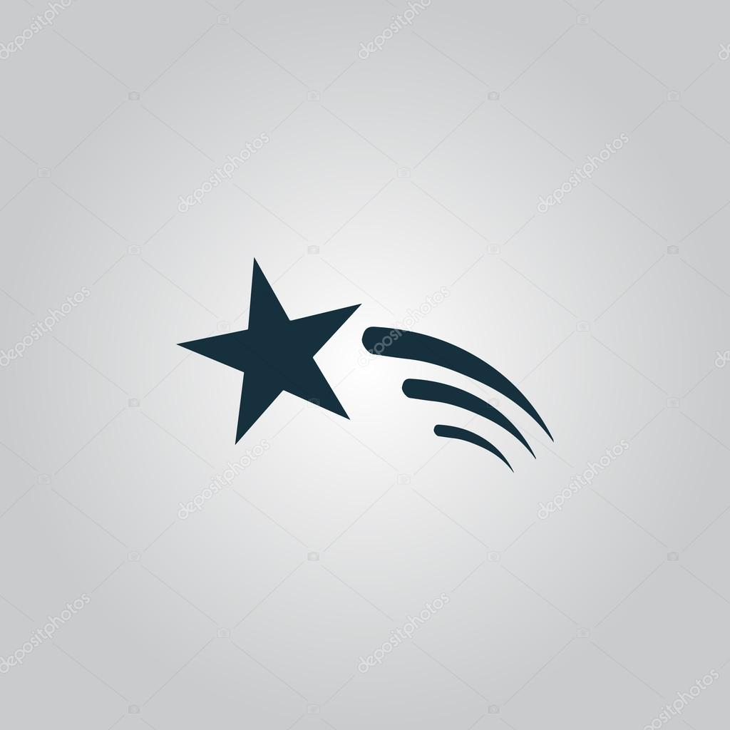 Shooting star vector icon