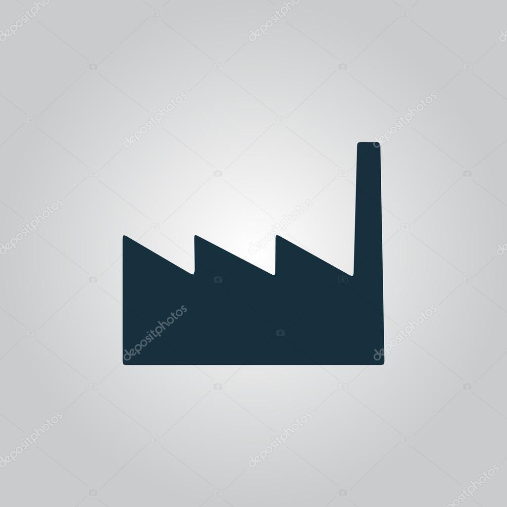 工場アイコンまたは記号 ベクトル イラスト ストックベクター