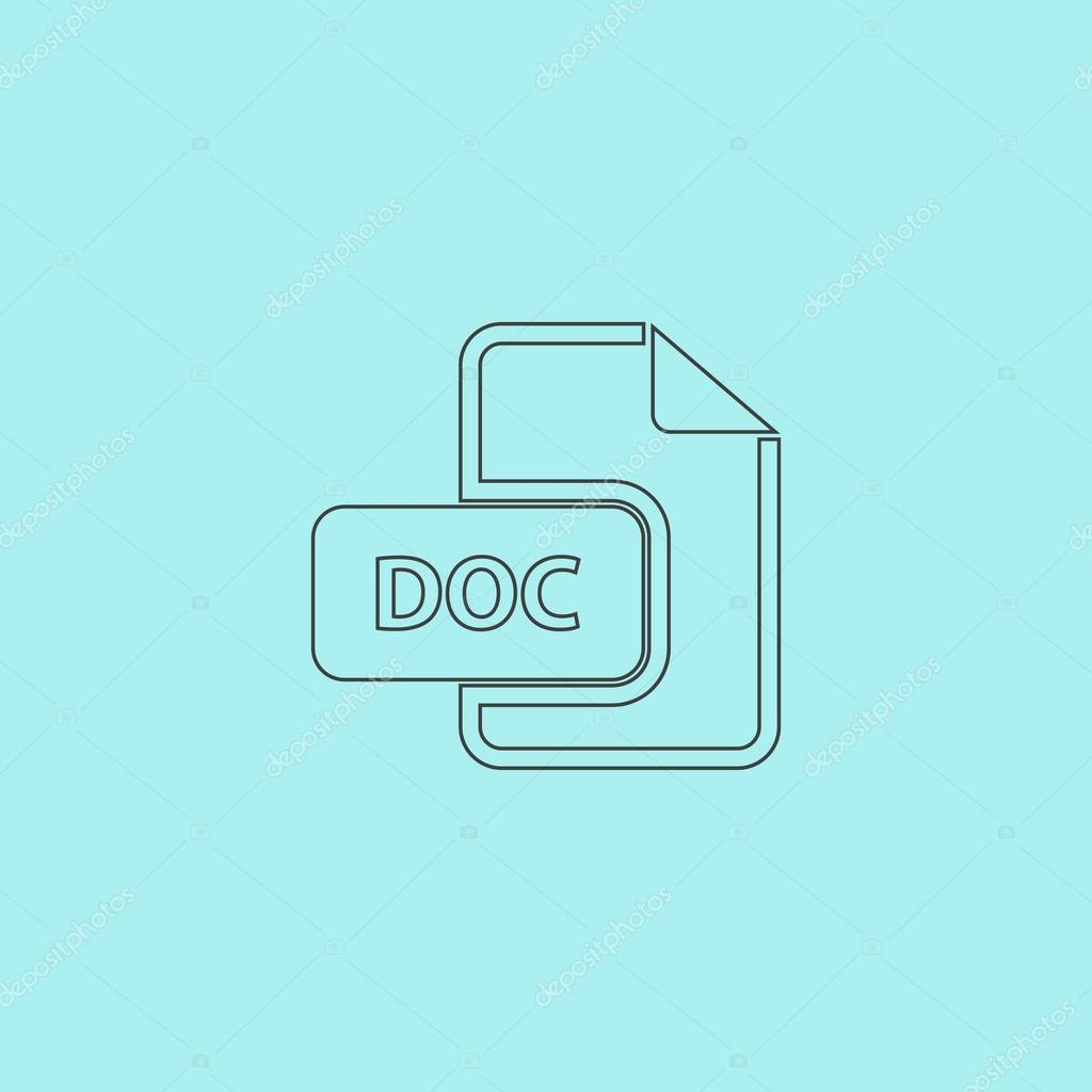 doc vector file extension icon stock vector burntime555 87749532