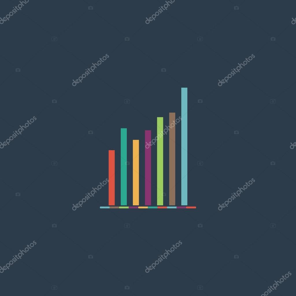 Cone de sinal grfico grfico smbolo do diagrama estatsticas graph chart diagram colorful vector icon simple retro color modern illustration pictogram collection concept symbol for infographic project and logo ccuart Images