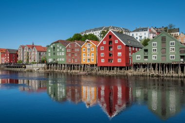 trondheim old town  view