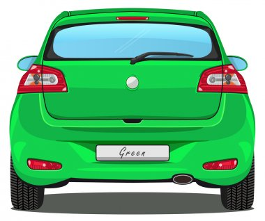 Car - Back view - Green